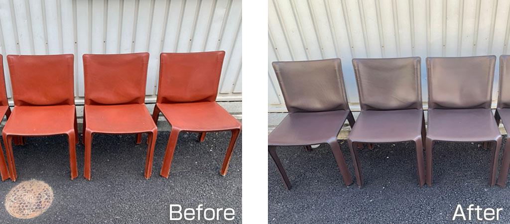 革椅子修理(リペア)