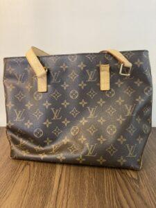 ヴィトンのお鞄の持ち手の付け根作製